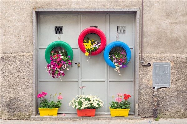 Recycled Tire Planter for Balcony / Garden