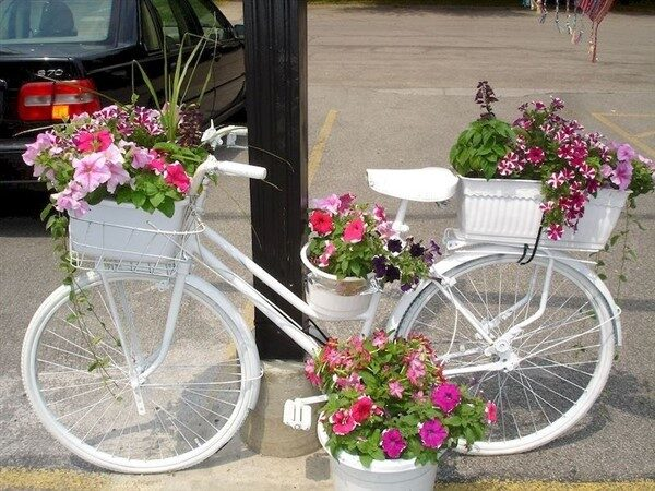 67 Flower Planters from Old Bicycle for Garden