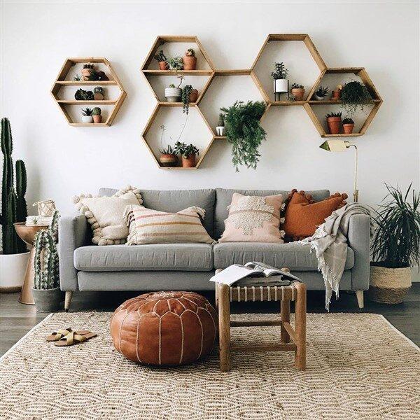 Adorable Honeycomb/Hexagon Wall Shelf Ideas