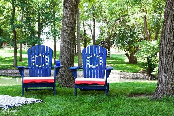 DIY Painting Outdoor Adirondack Chair Ideas