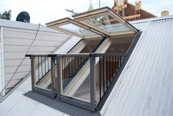 Roof Window System That Converts To A Small Balcony