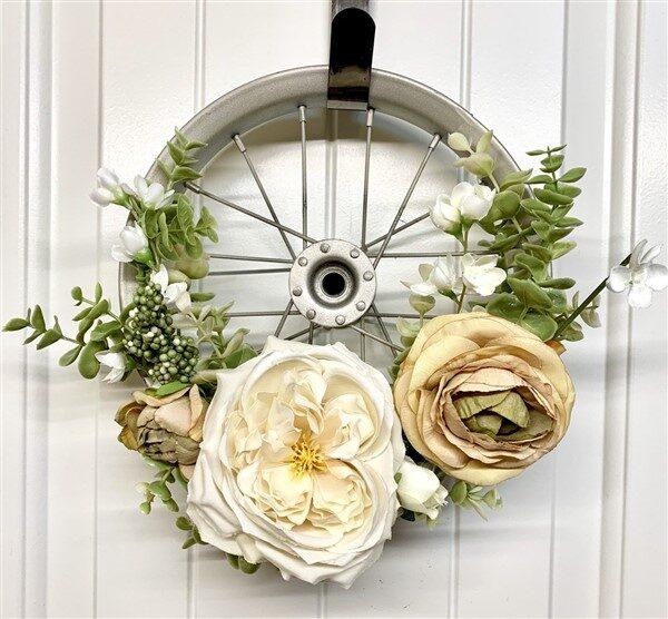Turn Bike Wheel into Decorative Wreath