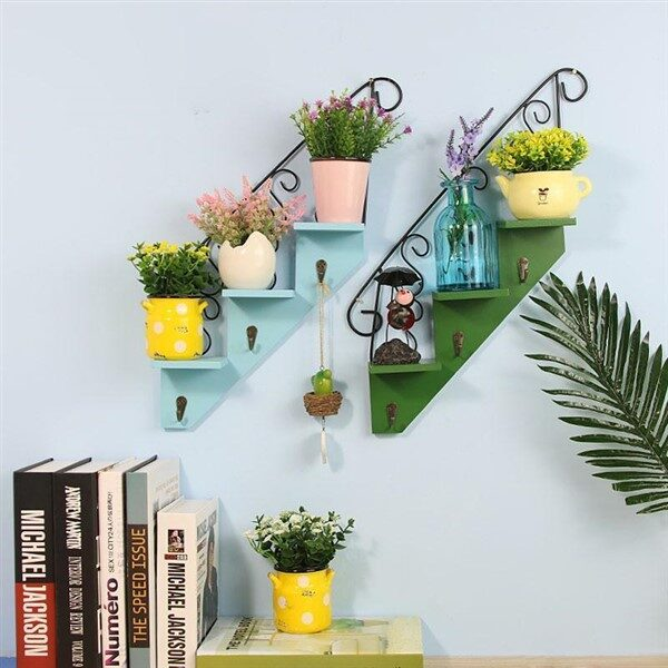 Balcony Wall Hanging Staircase Plant Shelf