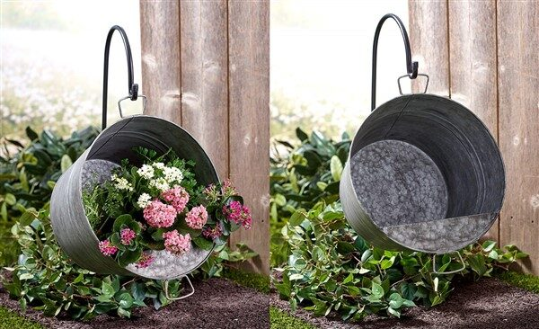 18 Hanging Pail Planter Ideas for Garden
