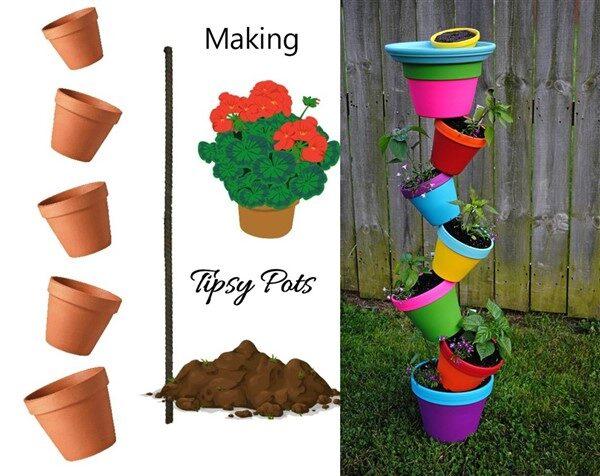 Tipsy Pots Planter Ideas For Garden and Balcony