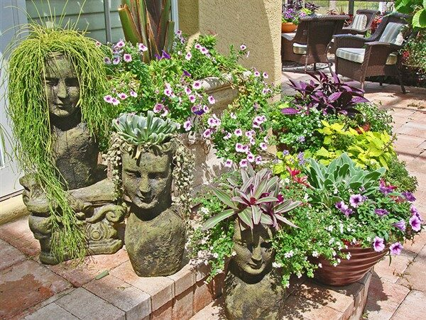 Changing Your Garden Appearance with Stone Head Planter