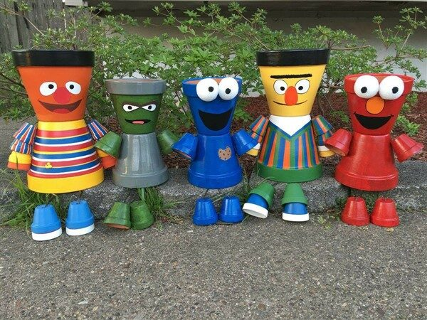 Clay Flower Pot People: Cartoon Characters and Superheroes