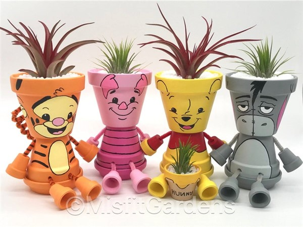 Clay Flower Pot People Cartoon Characters And Superheroes Balcony Decoration Eco Friendly Garden Ideas