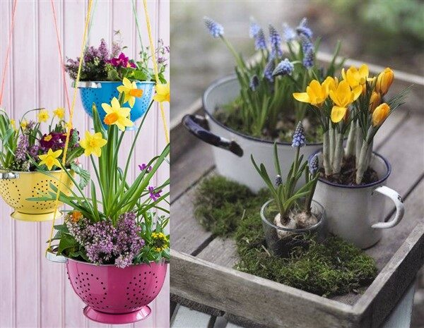 Prepare Your Balcony for Spring with Kitchenware Planters