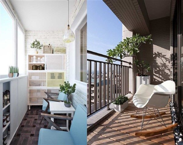 Long Narrow Balconies: How to Decorate?