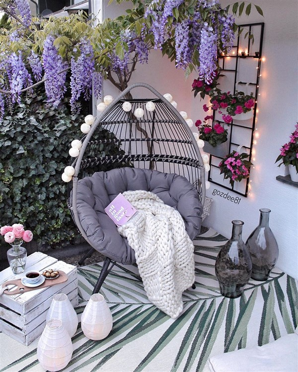 Balcony Egg Chair Ideas Magnificent Decoration Unique Balcony Garden Decoration And Easy Diy Ideas