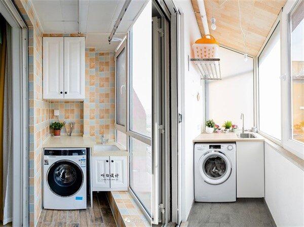 Balcony Laundry Room: Extra Functional Ideas