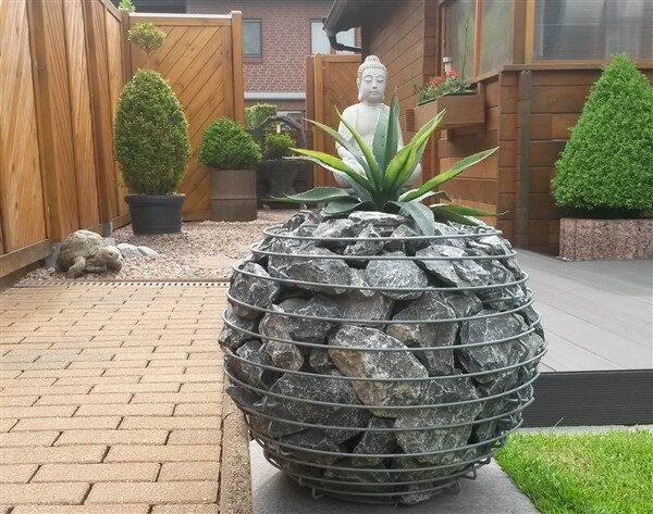 Decorative & Modern Gabion Planter Ideas