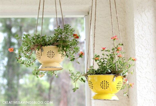 Easy DIY Planter Ideas with Vintage Colander