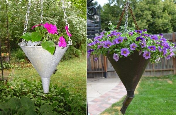 Turning Vintage Funnels Into Beautiful Planters