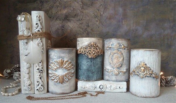 Clay Mold Appliques for Tin Can Planters: A Vintage Craft