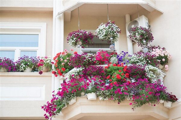 Flowery Balcony Ideas: An Array of Bright Colors For Flower Arrangements