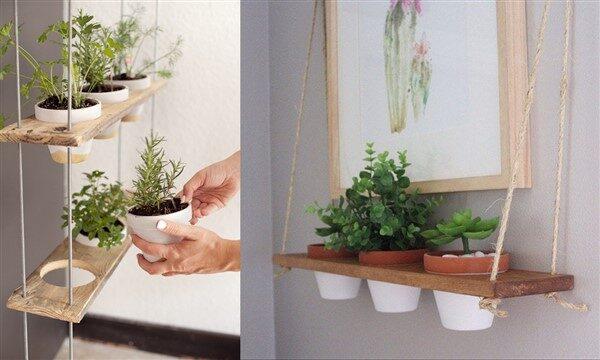 Hanging Plant Shelf for Better Indoor & Outdoor Decoration