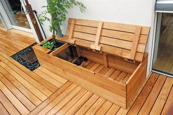 Benches with Storage:  Complexity-solving Ideas for Balconies