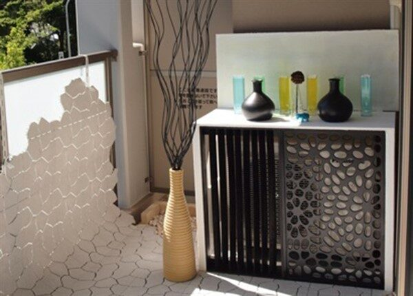 Balcony Heat Pump Cover with Decorative Models