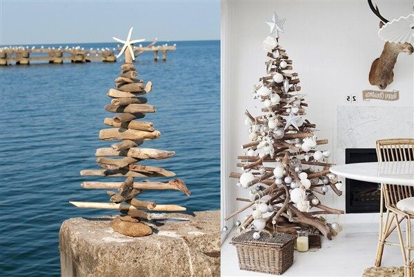 Driftwood Christmas Tree: Ornamental Tree Project For Christmas Decoration
