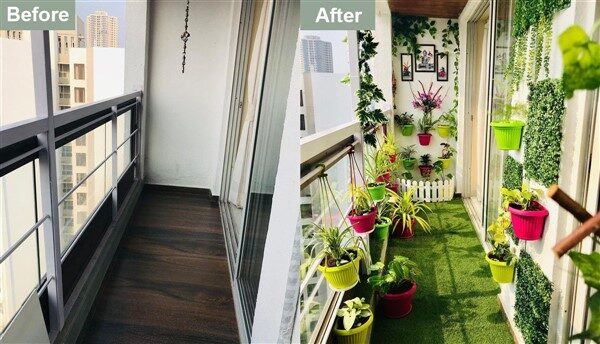 Balcony Garden Before After: Make Your Balcony Greener