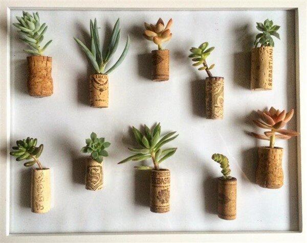 DIY Wine Cork Planters: Mini Decors For Interior Design