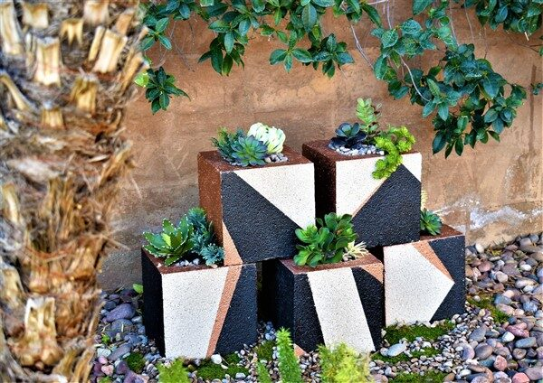 How To Paint Cinder Block Planters With Different Models?