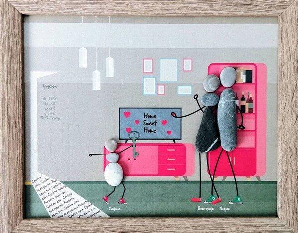 DIY Pebble Art Ideas: Lovely Interior Wall Decors