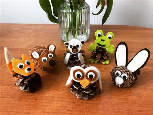 How to Make Pinecone Animal Crafts?